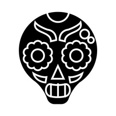 catrina icon, illustration, vector sign on isolated background