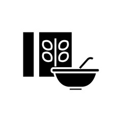 cereal - porridge bowl and box icon, illustration, vector sign on isolated background