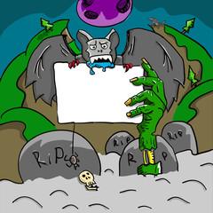 Halloween invitation card vector illustration