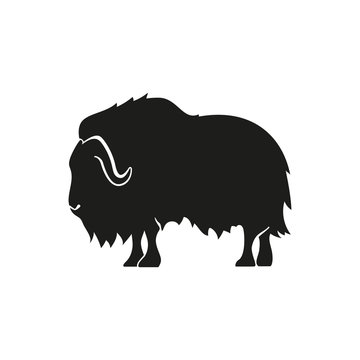 Musk ox simple icon