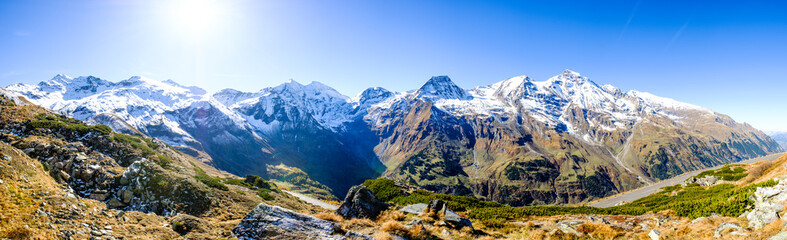 Poster de jardin Alpes grossglockner mountain