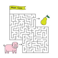 Cartoon Pig Maze Game