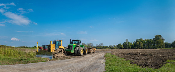 Powerful Earth Moving Grader for Construction