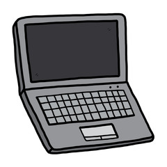 computer notebook / cartoon vector and illustration, hand drawn style, isolated on white background.