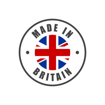 """""""Made in Britain"""" badge with UK flag"""