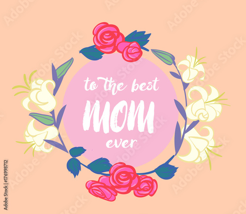 Greeting card to mother day vector illustration stock image and greeting card to mother day vector illustration m4hsunfo