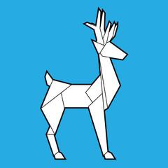 Deer polygonal geometric icon