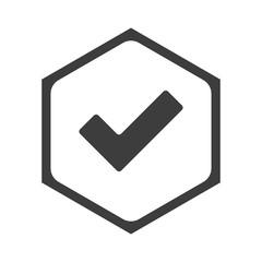 Fototapeta ikona sześciobok z zaokrąglonymi wewnątrz krawędziami