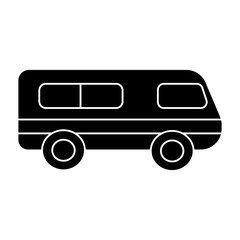 microbus - minibus icon, illustration, vector sign on isolated background