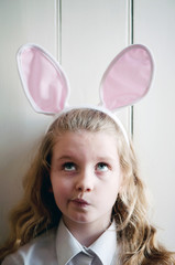Girl with Easter Bunny ears