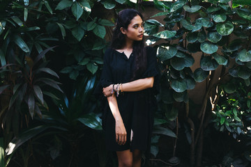 Young Indonesian Woman in Black Dress