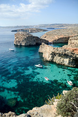 Cliffs at Comino, Malta
