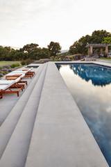 Backyard pool at luxury home