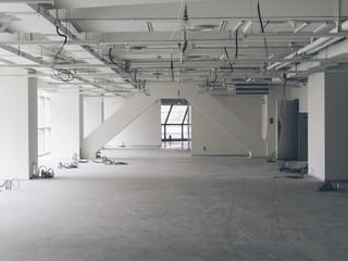 Construction site building interior