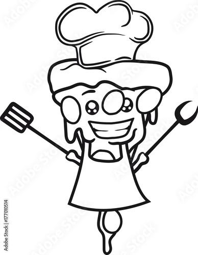 Koch Chef Schurze Essen Lecker Grillen Kochen Kuche Mutze Gesicht