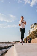 Woman runs outdoor