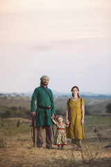 Family Travel In A Desert