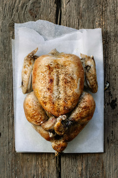 Simple roast chicken.
