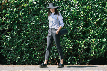 Outfit inspiration - Wide brim hat