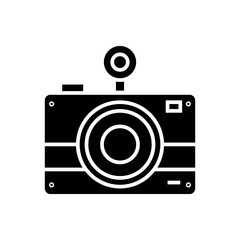 photo camera icon, illustration, vector sign on isolated background