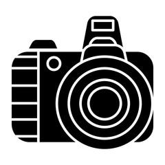 photo camera pro icon, illustration, vector sign on isolated background