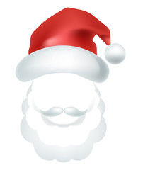 Video chat Santa Claus face selfie effect photo mask vector icon template
