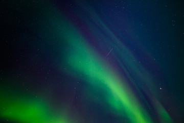 Shooting Star and Auroras 1