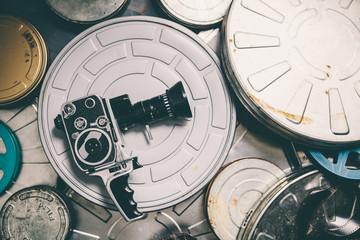 Cinema cameras and reels