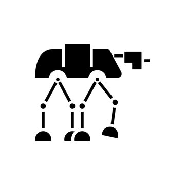 robot warior armored transport  icon, illustration, vector sign on isolated background