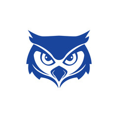 owl logo design with sharp eyes