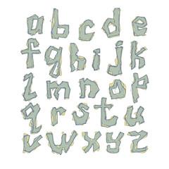 letters of latin alphabet