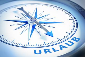 Kompass weiß blau Urlaub