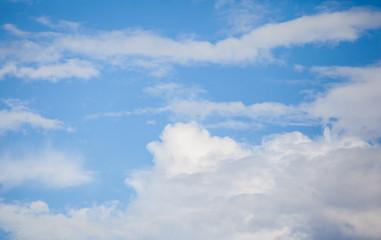 Cloud and blue sky.
