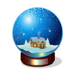 Merry christmas glass snow ball