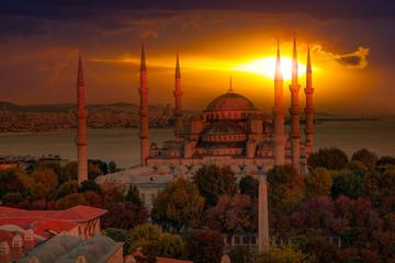 The Blue Mosque, (Sultanahmet), Istanbul, Turkey.
