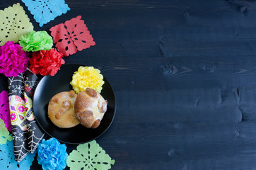 Fiesta mexicana, bread of death.