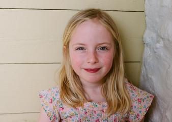 Portrait of a sweet little girl.