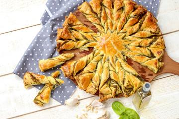 tarte soleil au pesto et basilic 4