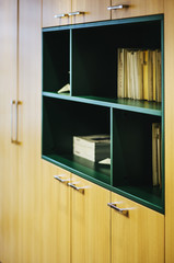 Detail of office furniture and papers