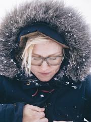 Girl in winter coat