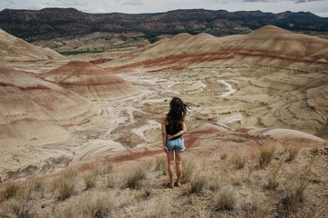 A Girl and the Desert