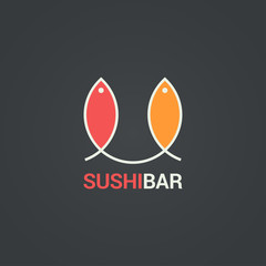 Sushi menu design. Fish menu background.