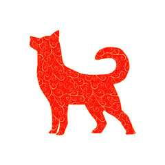 New Year 2018 red dog