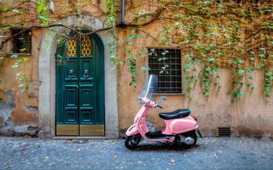 Fotorolgordijn Scooter Scooter in Rome