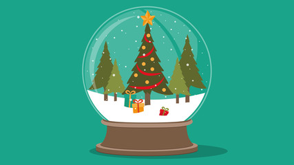 Snowglobe vector illustrator
