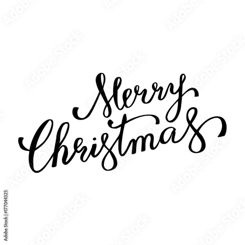 Merry christmas winter holiday greeting card vector calligraphy merry christmas winter holiday greeting card vector calligraphy hand drawn font lettering on white background m4hsunfo