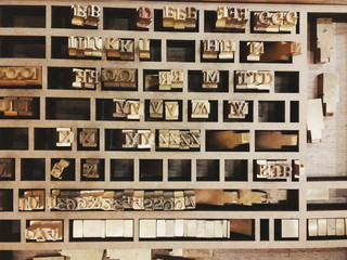letters for typesetting - horizontal