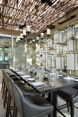 Private dining space at restaurant
