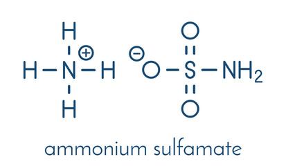 Ammonium sulfamate herbicide (weed killer) molecule. Skeletal formula.