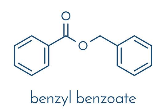 Benzyl benzoate drug molecule. Used as acaricide, scabicide, etc.  Skeletal formula.